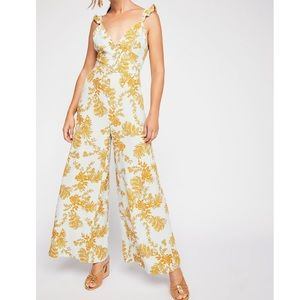 Free People Be the One Floral  Jumpsuit